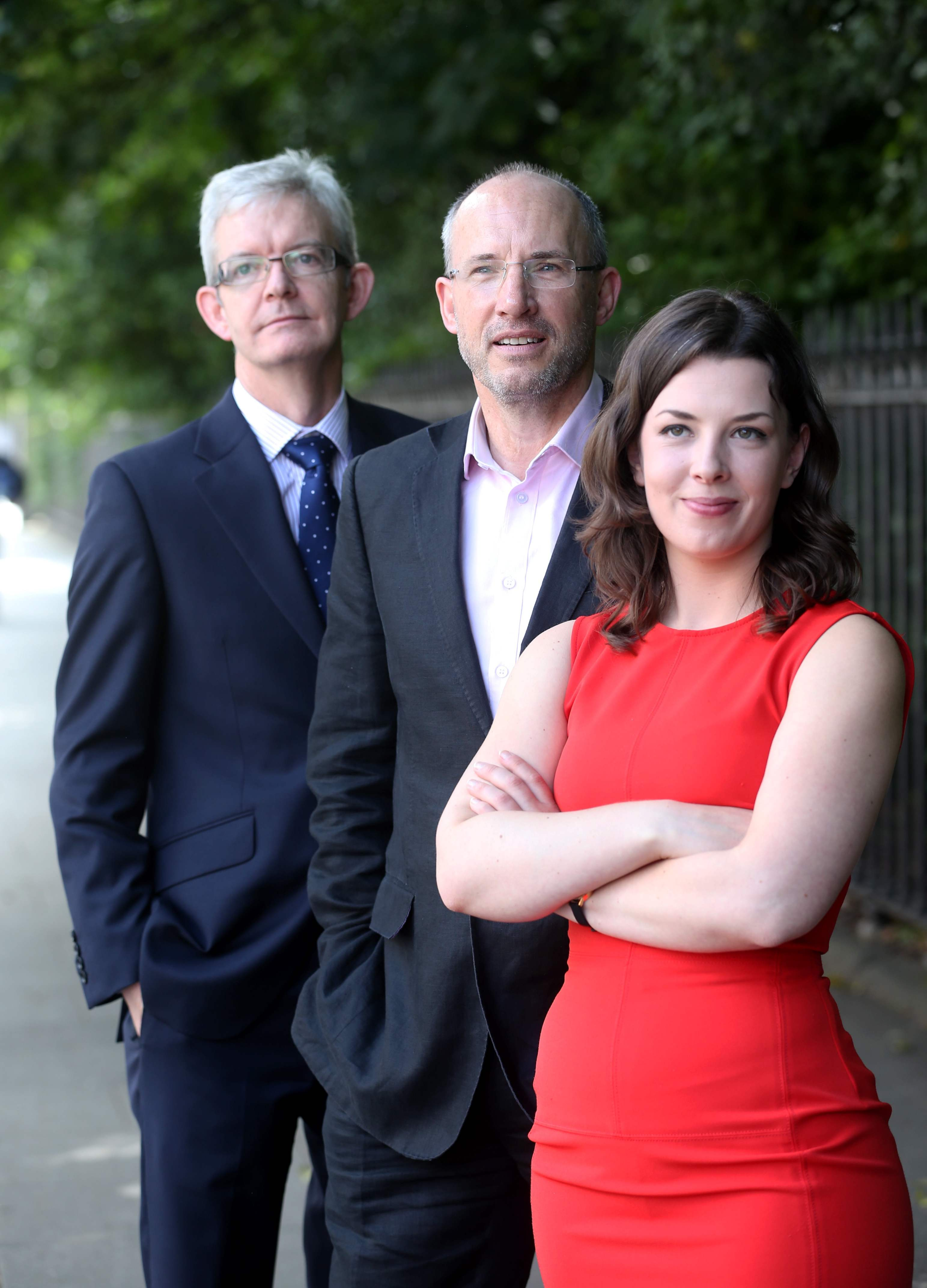 left to right: Joe Healy, Manager of Enterprise Ireland's HPSU Accelerate Department, Anthony Quigley, Chairman, Code Institute and Helen Norris, Marketing Manager, Kernel Capital. Picture Jason Clarke