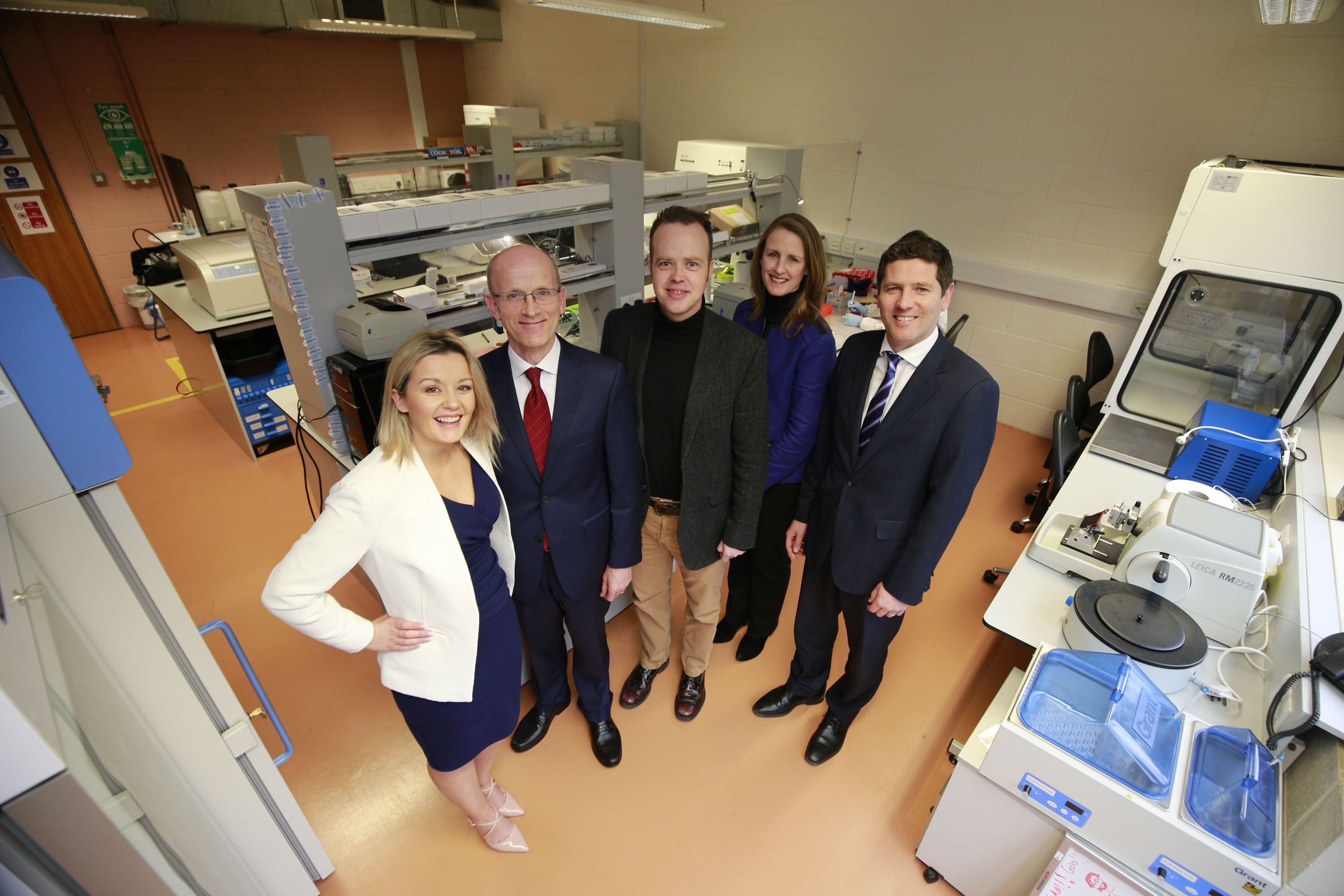 Pictured were Dawn Walsh, Kernel Capital; Des O'Leary, CEO, OncoMark; Professor William Gallagher, Director, UCD Conway Institute and co-founder, OncoMark; Deirdre Glenn, Manager, Lifesciences Sector, Enterprise Ireland and Kevin Healy, Senior Manager, Corporate Banking Ireland, Bank of Ireland