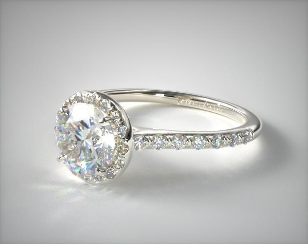 Diamond Solitaire Rings With Side Stones